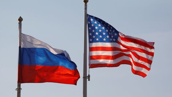 National flags of Russia and the US - Sputnik Česká republika