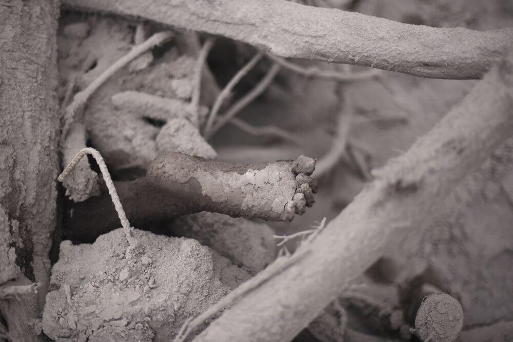 Oběť erupce sopky Fuego v Guatemale