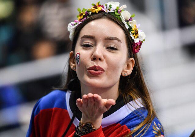Ruska během hokejového zápasu Rusko – Kanada