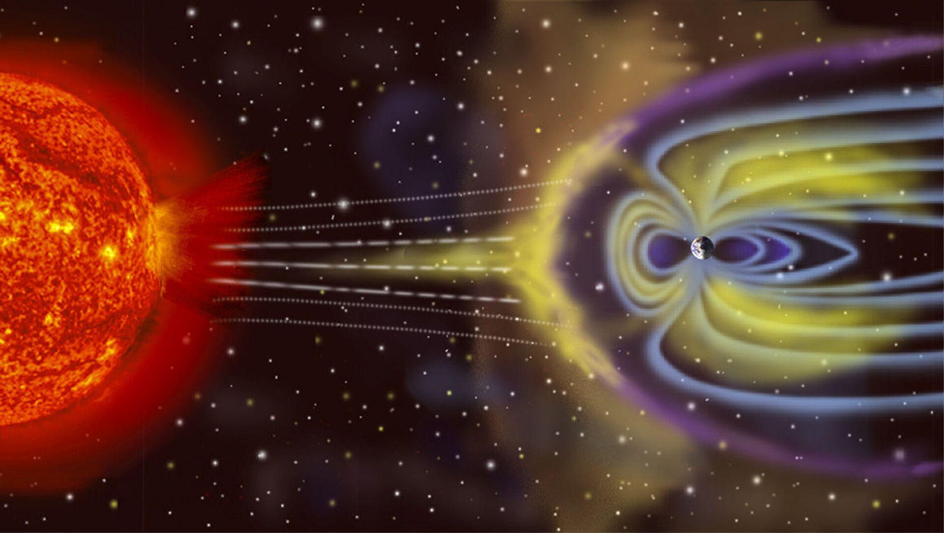 Schéma vzníku geomagnetické bouře na Zemi - Sputnik Česká republika, 1920, 12.02.2021