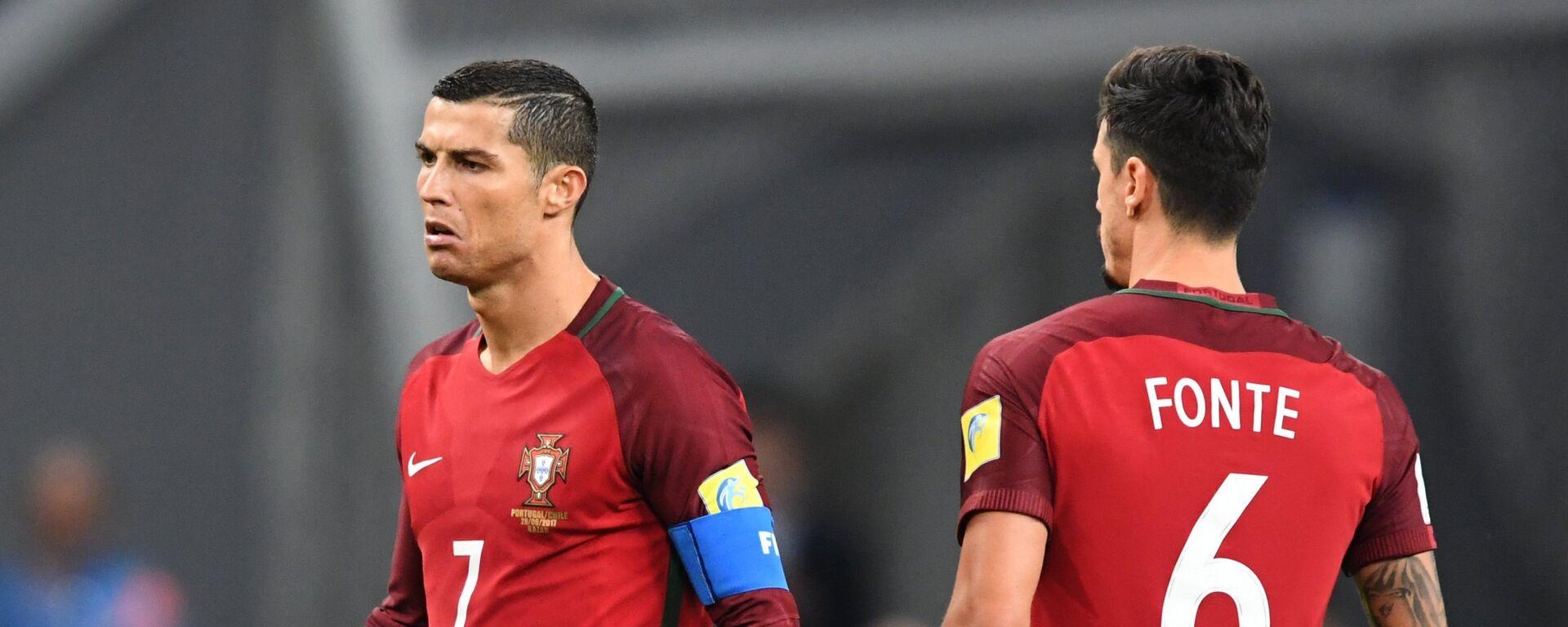 Cristiano Ronaldo při zápase Konfederačního poháru 2017 - Sputnik Česká republika, 1920, 20.06.2021