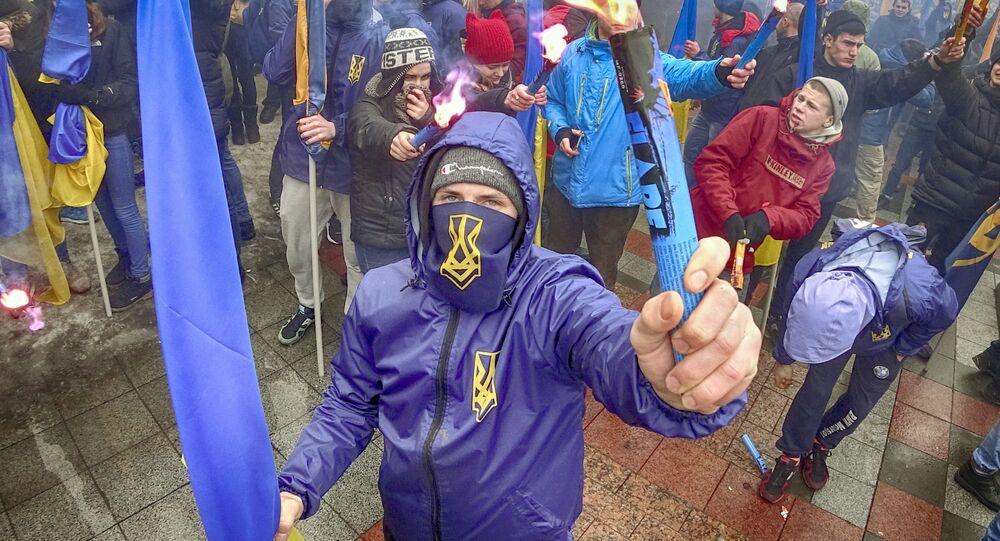 Ukrajinští radikálové. Ilustrační foto