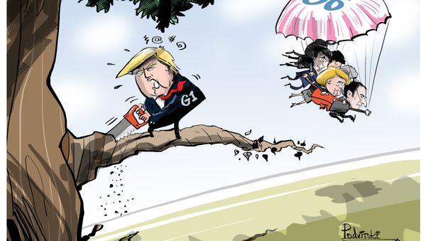 Trump řeže větev - Sputnik Česká republika