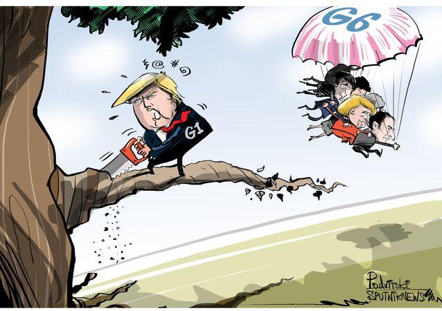 Trump řeže větev