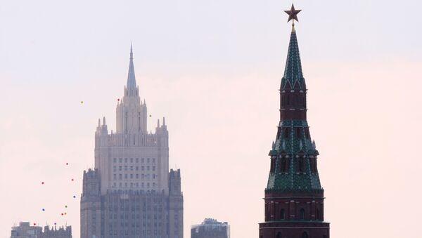 Budova Ministerstva zahraničí RF a Kreml - Sputnik Česká republika