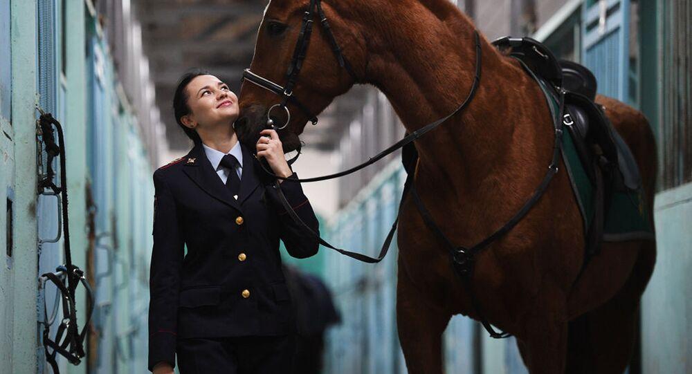 Moskevská policistka Taťana Zimová