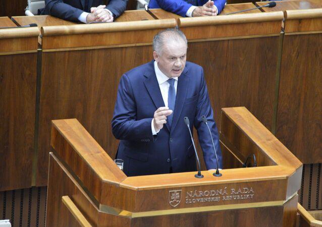 Lídr strany Za lidi Andrej Kiska