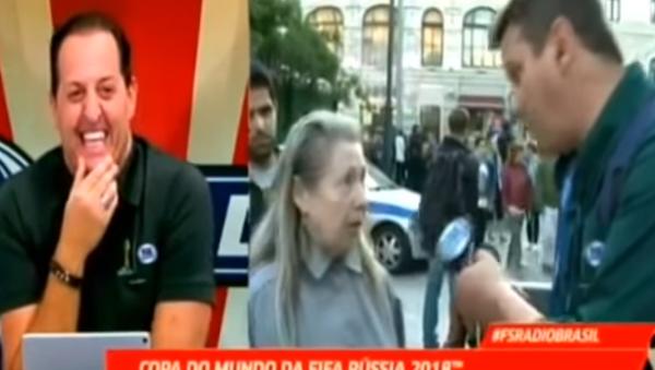 """Ruská babička """"zlomila"""" brazilského novináře - Sputnik Česká republika"""