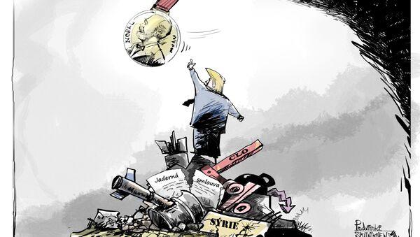 zasloužená odměna Trumpa - Sputnik Česká republika