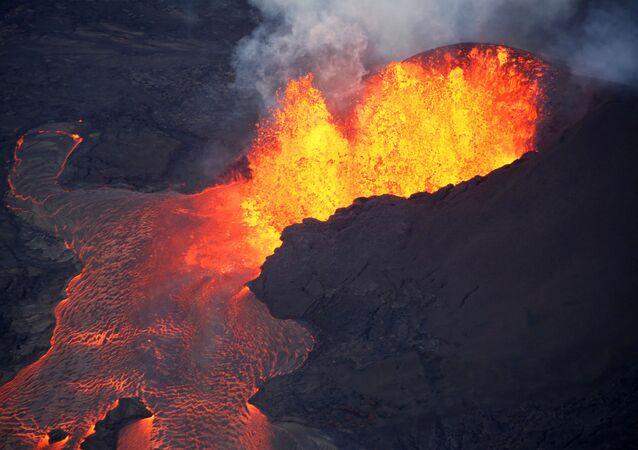 Láva ze sopky Kilauea