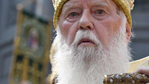 Patriarcha ukrajinské pravoslavné církve Kyjevského patriarchátu (UPC KP) Filaret - Sputnik Česká republika