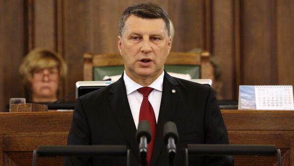 lotyšský prezident Raimonds Vejonis - Sputnik Česká republika