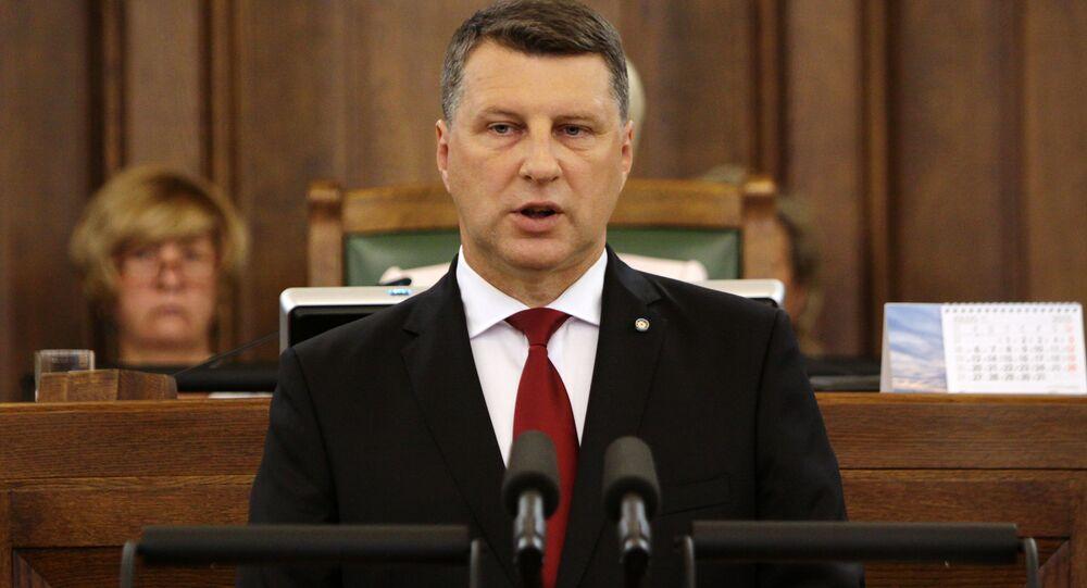 lotyšský prezident Raimonds Vejonis