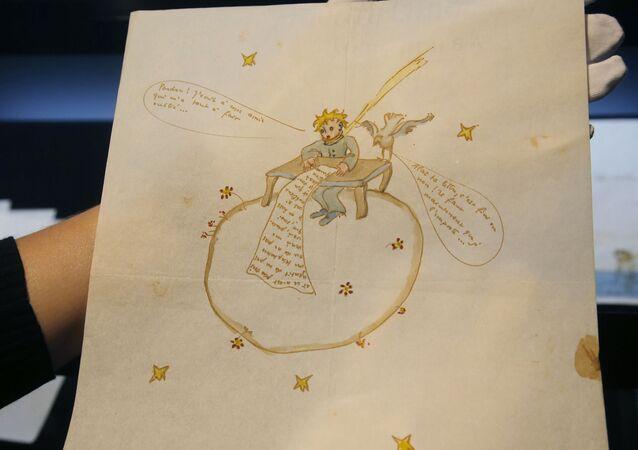 Jedna z kreseb pro knihu Malý princ Antoina de Saint-Exupéryho