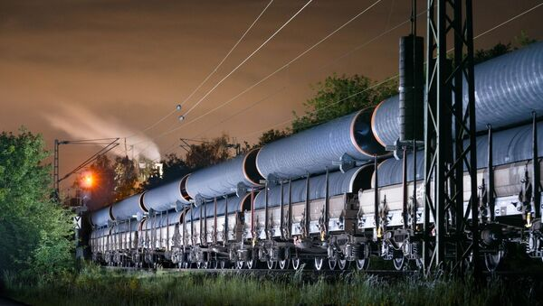 Přeprava potrubí pro Severní proud 2, Německo - Sputnik Česká republika