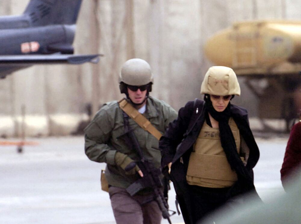Herečka a velvyslankyně OSN Angelina Jolie v Bagdádu