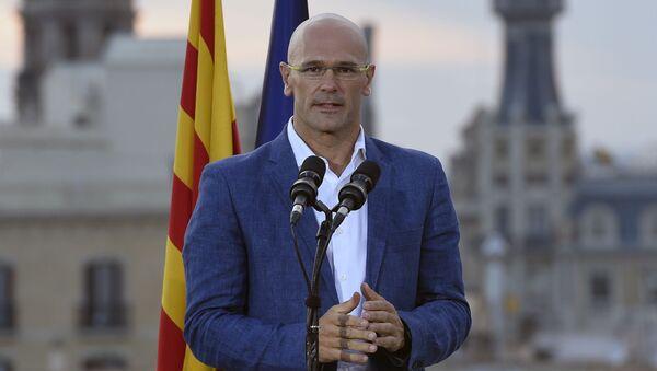 Zástupce koaličního hnutí za oddělení Katalánie Raul Romeva - Sputnik Česká republika