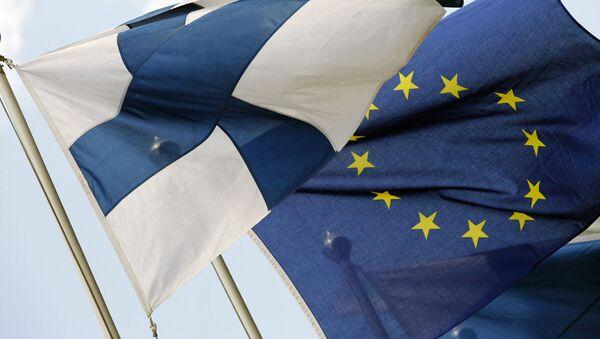Vlajky Finska a EU - Sputnik Česká republika