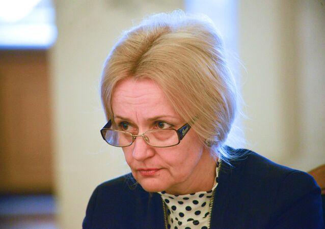 Bývalá lidová poslankyně za stranu Svoboda, jazykovědkyně a bojovnice za ukrajinský jazyk Irina Farionová