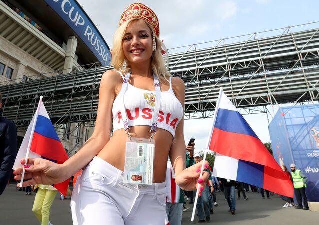 Natalja Němčinovová před zahajovacím zápasem MS 2018