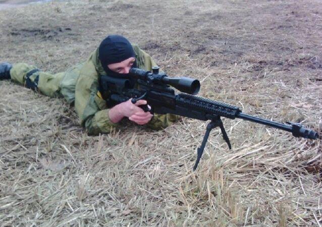 Sergej Sanovský na výcvikovém prostoru Azova