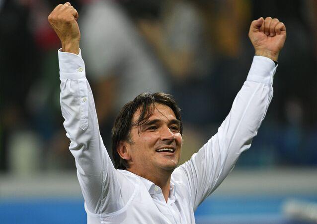 Chorvatský trenér Zlatko Dalič po vítězném osmifinálovém zápasu