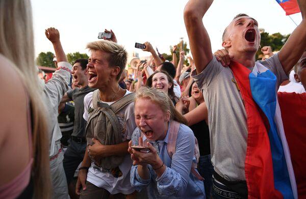 Národ jásá. Jak v Moskvě oslavili vítězství Ruska nad Španělskem - Sputnik Česká republika