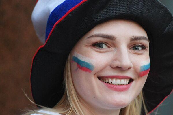 Болельщики празднуют победу сборной России - Sputnik Česká republika