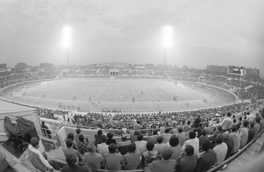 XXII olympijské hry. Fotbal. Setkání týmů Nigérie a Kuvajtu, 1980