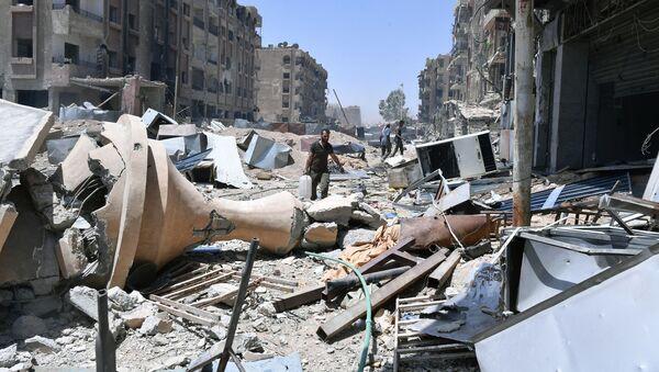 Damašek po útoku, Sýrie. Ilustrační foto - Sputnik Česká republika