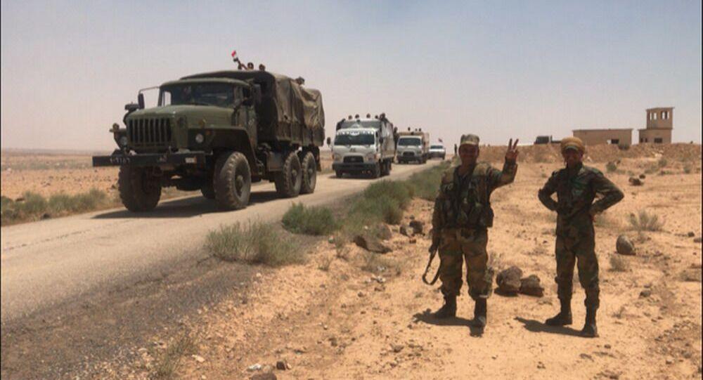 Syrská armáda v provincii Dar'á na hranici s Jordánskem