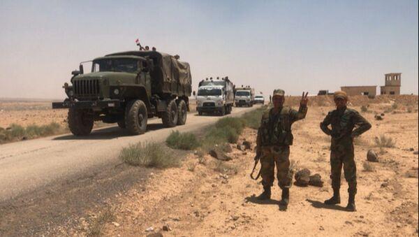 Syrská armáda v provincii Dar'á na hranici s Jordánskem - Sputnik Česká republika