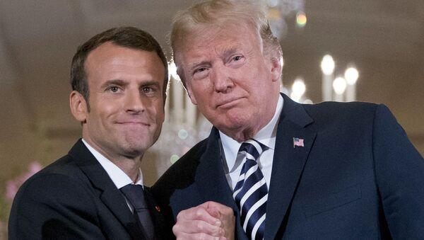 americký prezident Donalda Trump a francouzského prezident Emmanuel Macron - Sputnik Česká republika