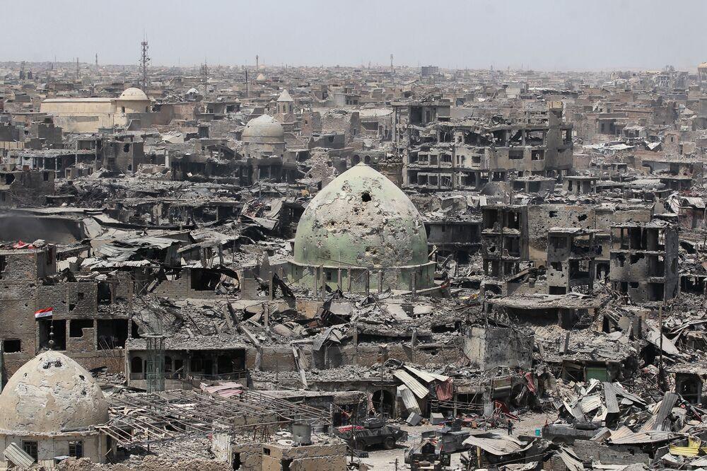 Zničený Mosul. Červenec 2017