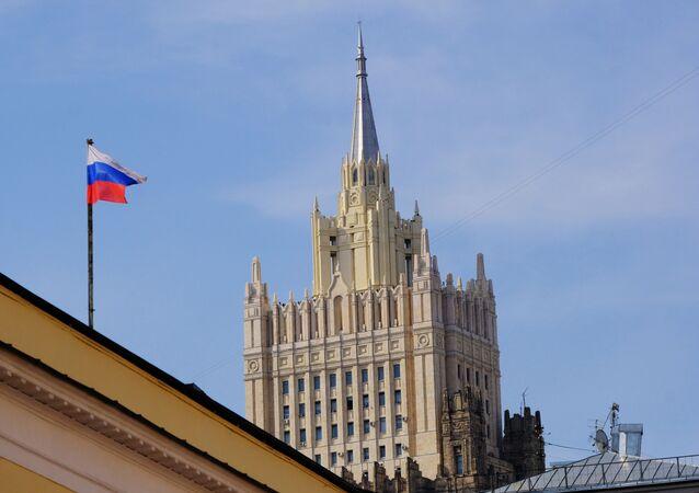 Budova Ministerstva zahraničních věcí Ruska v Moskvě
