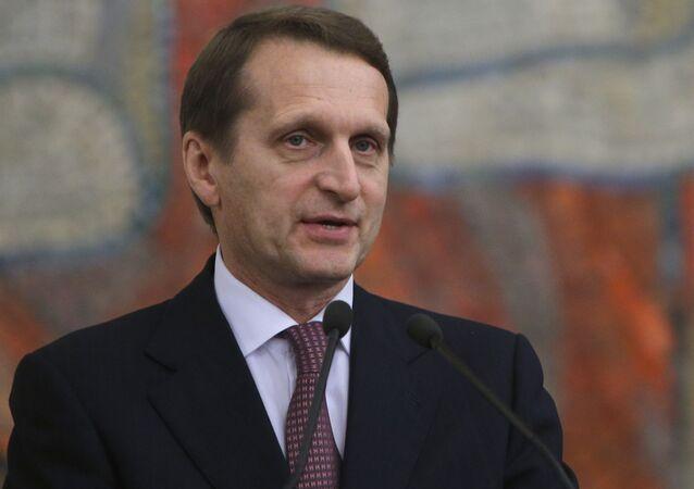 Předseda Státní dumy Sergej Naryškin