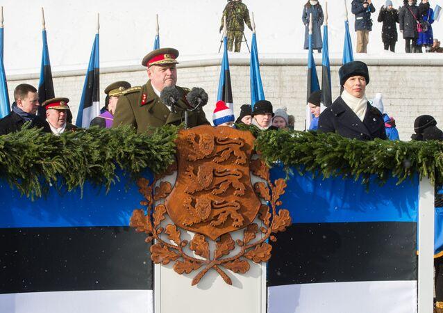 Estonský prezident a vojáci