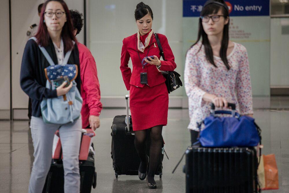 Letuška hongkongských aerolinek Cathay Pacific