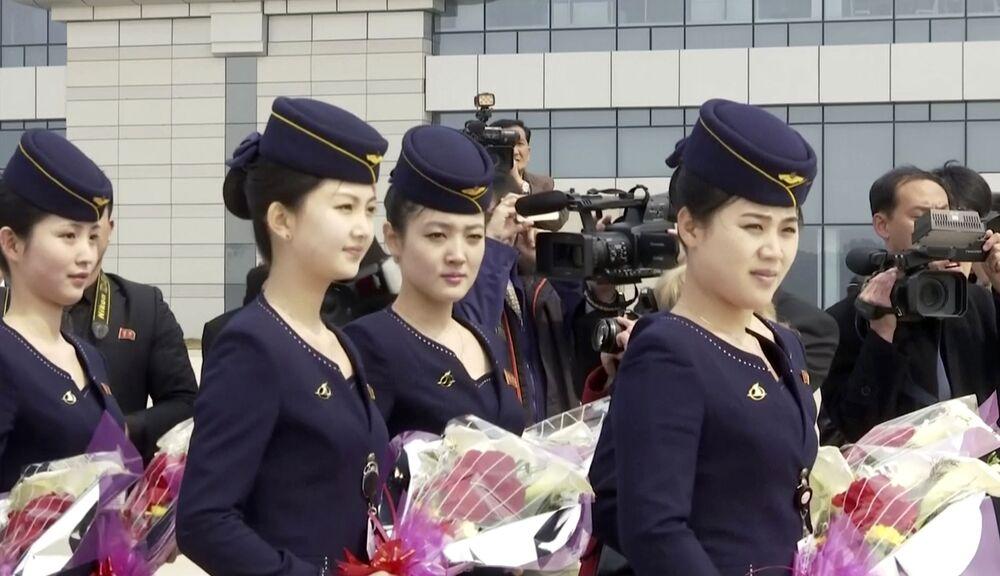 Letušky severokorejských aerolinek Air Koryo
