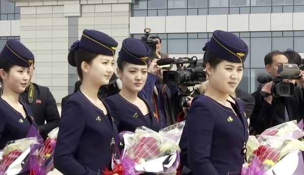 Letušky severokorejských aerolinek Air Koryo - Sputnik Česká republika