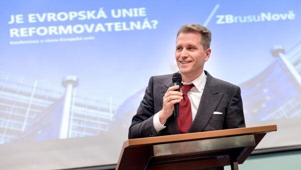 Předseda bavorské Alternativy pro Německo a poslanec Spolkového sněmu Petr Bystroň - Sputnik Česká republika
