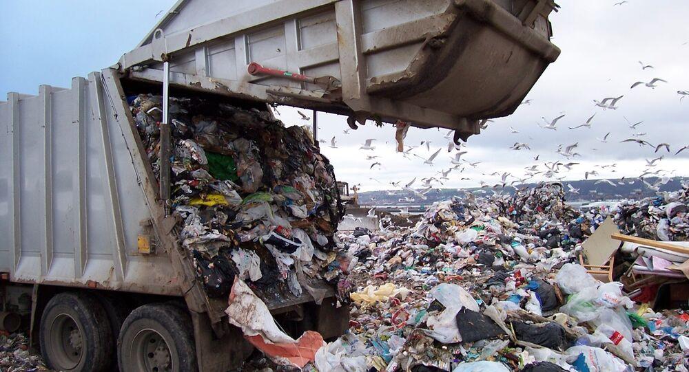 Odpadní kamion v USA