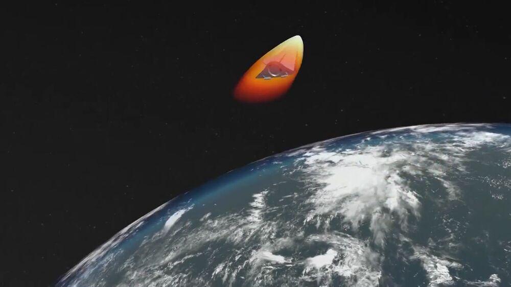 Start nejnovější rakety Avangard, záběr z videa poskytnutého Ministerstvem obrany Ruska