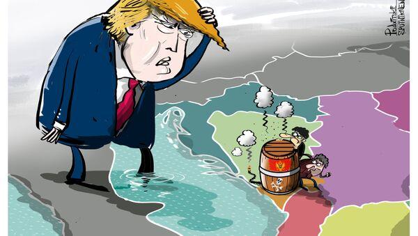 Černá hora—země s agresivním národem karikatura - Sputnik Česká republika