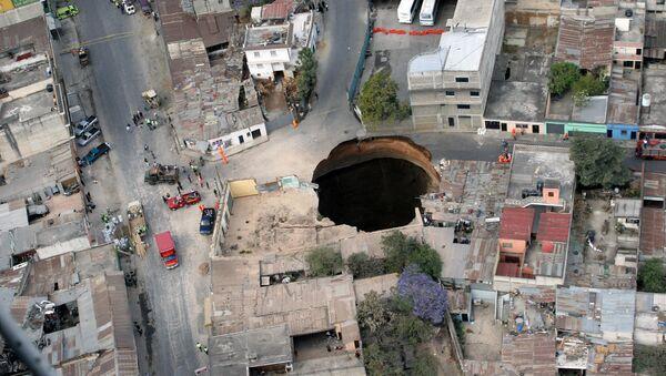 Černá díra v Guatemale - Sputnik Česká republika
