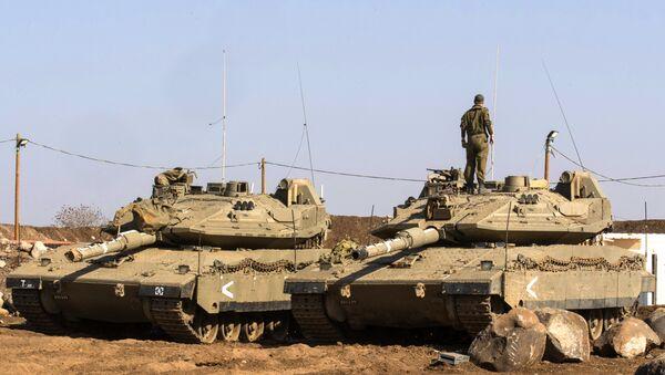 Izraelský tank Merkava. Ilustrační foto - Sputnik Česká republika
