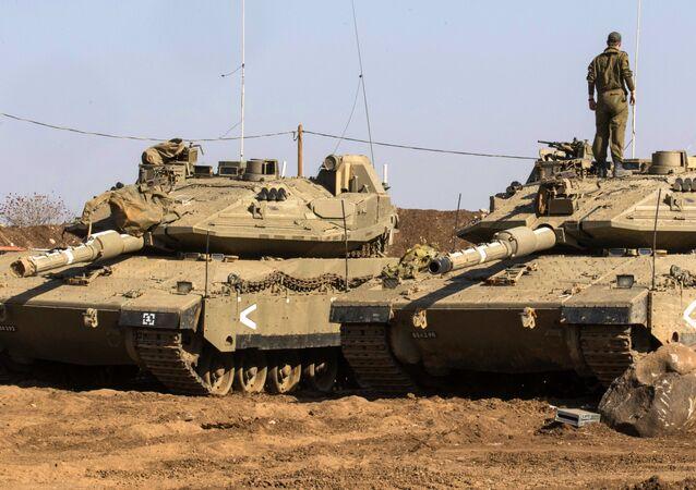 Izraelský tank Merkava. Ilustrační foto