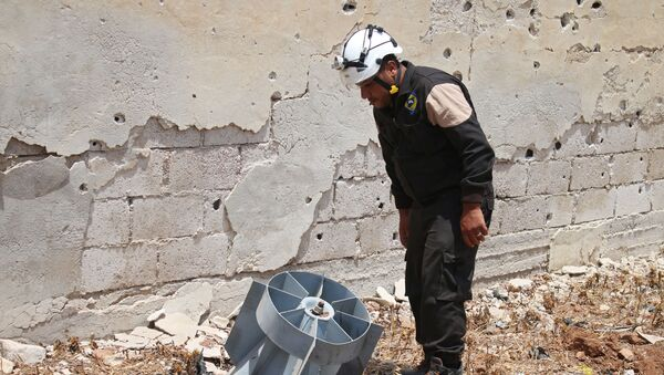 Člen Bílých přileb v Sýrii - Sputnik Česká republika
