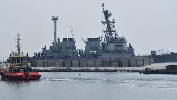 Americký torpédoborec Carney DDG64 v Oděse. Ilustrační foto - Sputnik Česká republika
