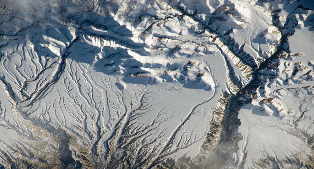 Himalaji na hranici mezi Indií a Čínou